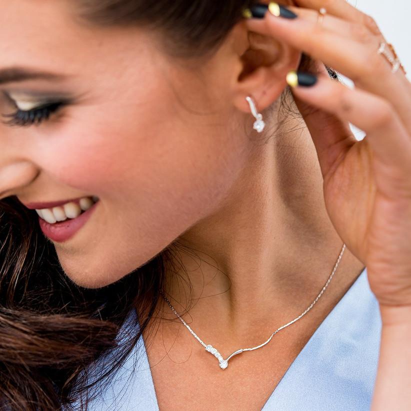 Model wearing a jewellery set