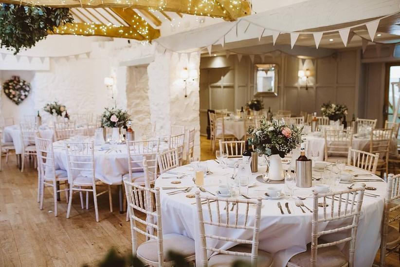 Wedding venue dining room area