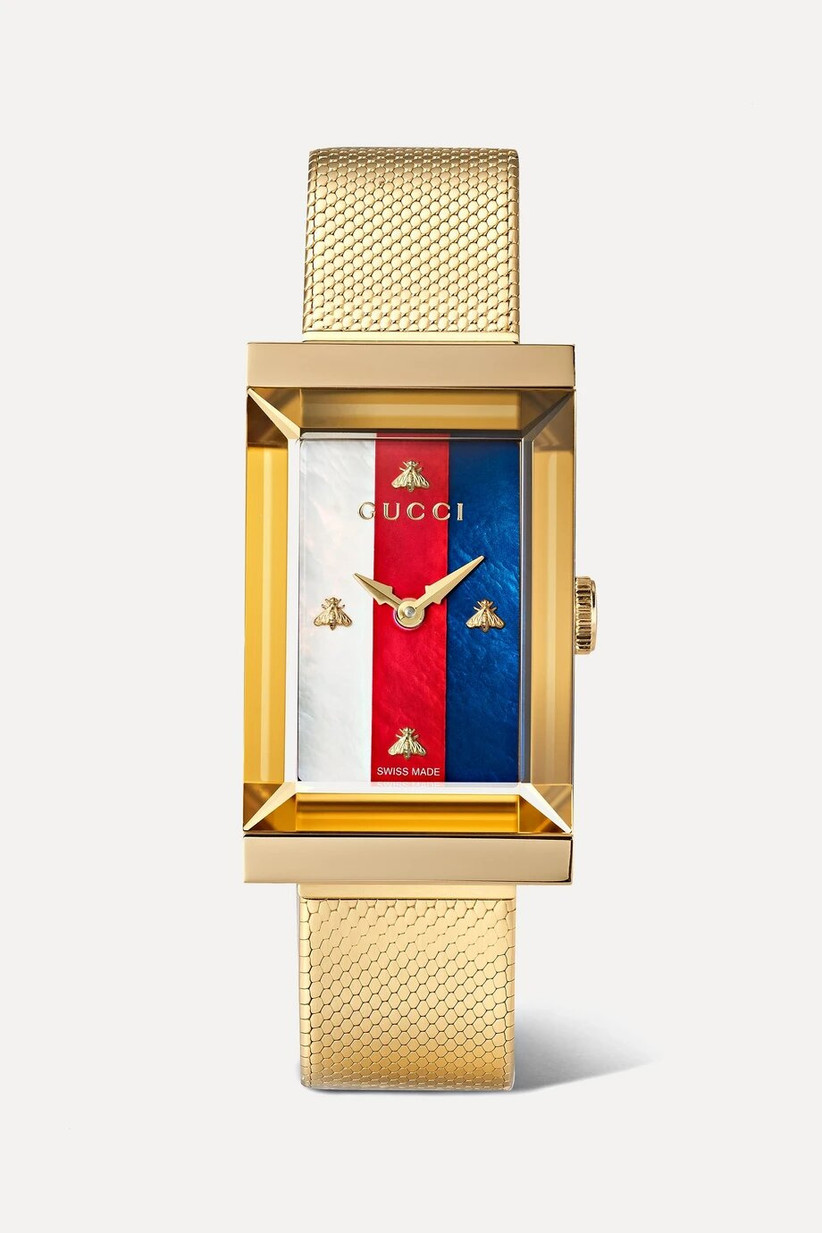 Gold Gucci engagement watch