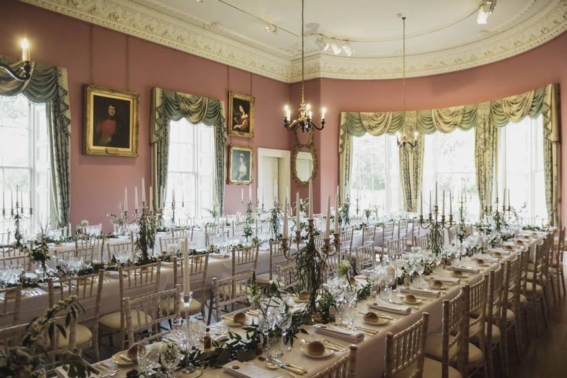 Castle wedding dining area