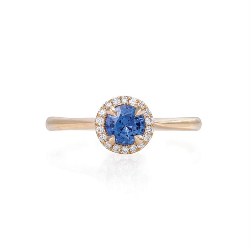 Vintage round sapphire