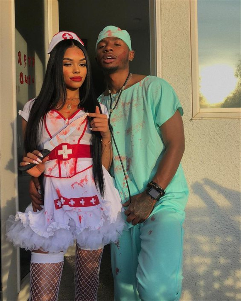 Couples Halloween Costume doctor and nurse