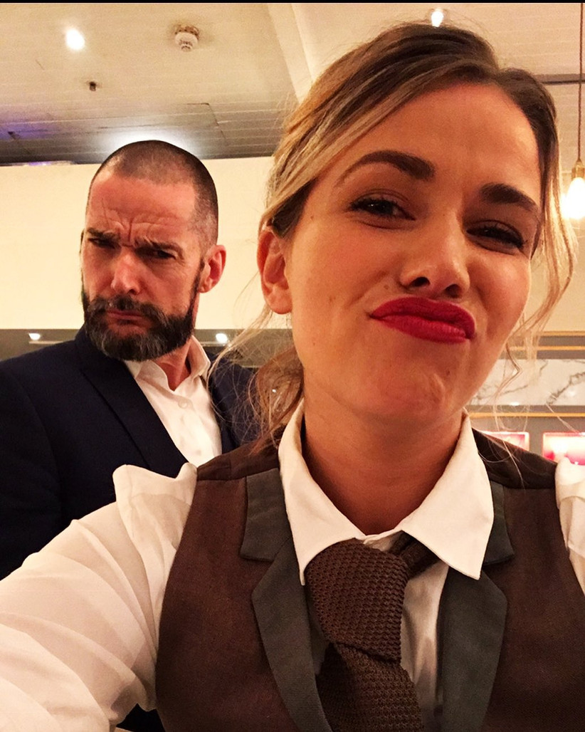 First Dates Laura Tott and Maitre'd Fred