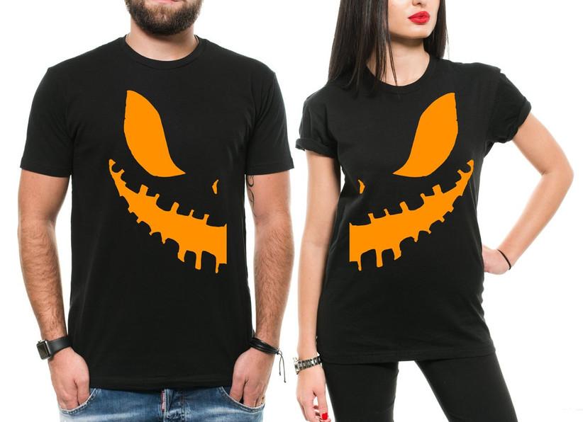 Couples Halloween Costumes pumpkin t-shirt