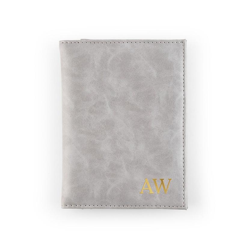 Grey personalised wallet