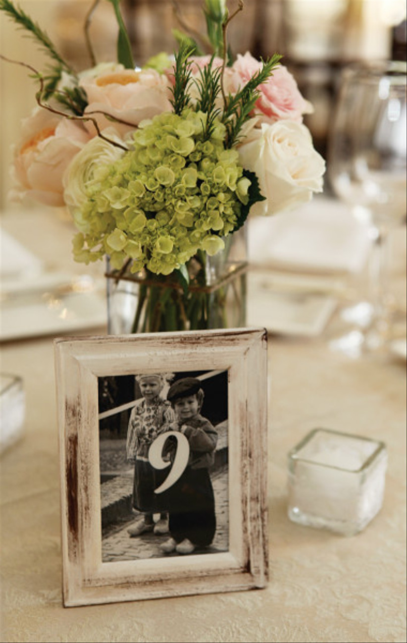 Photograph wedding table number