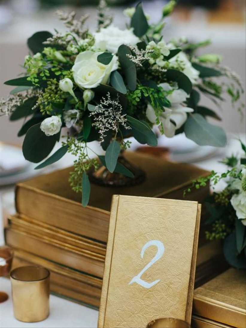 Notebook wedding table number