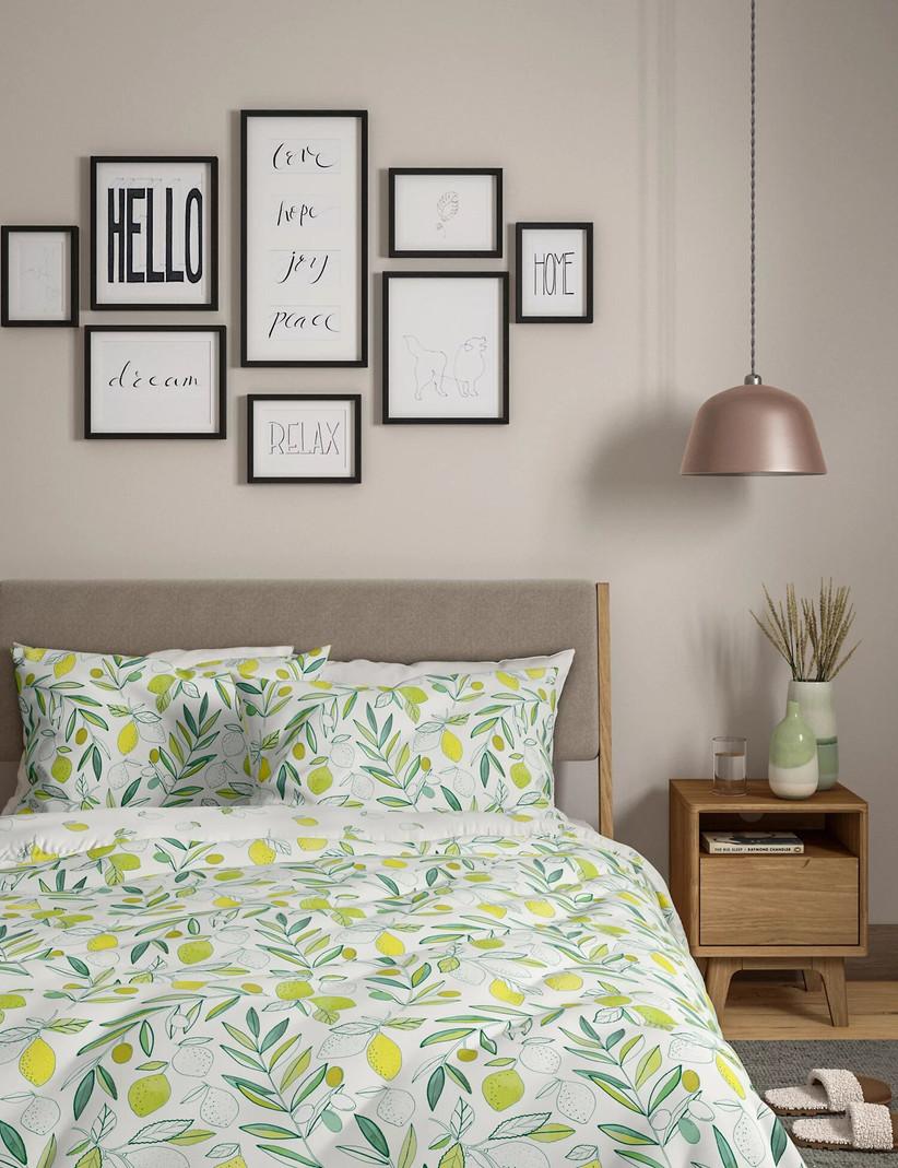Lemon bed set