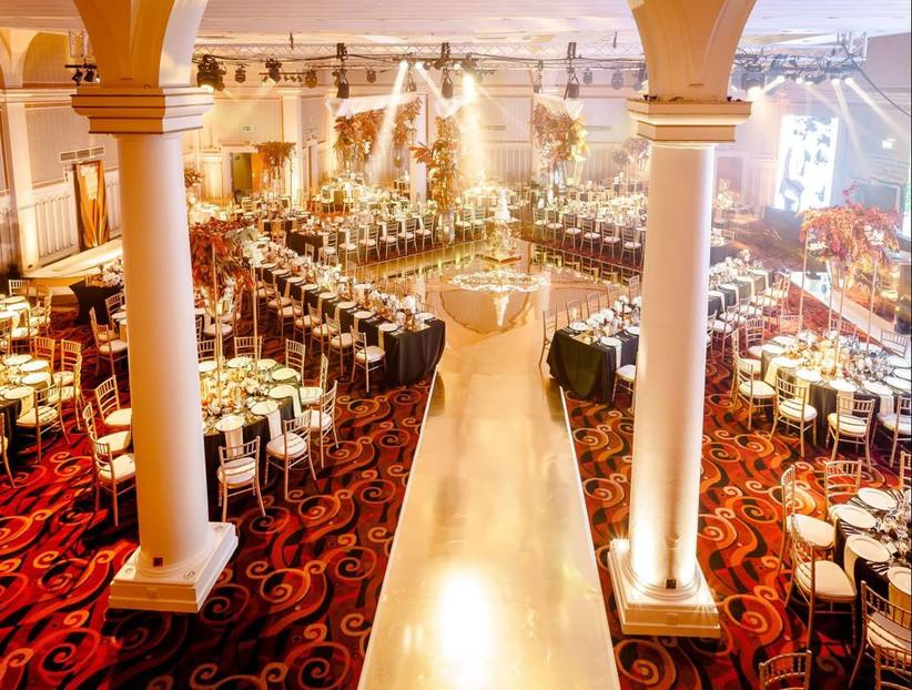 Large grand wedding dining area