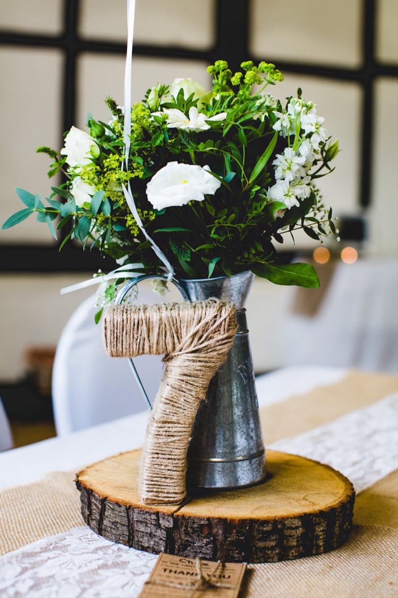 Twine wedding table number