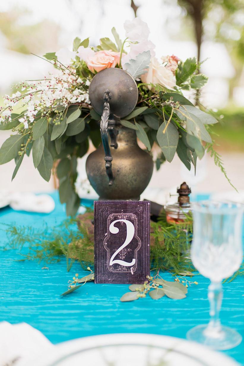 Vintage wedding table number