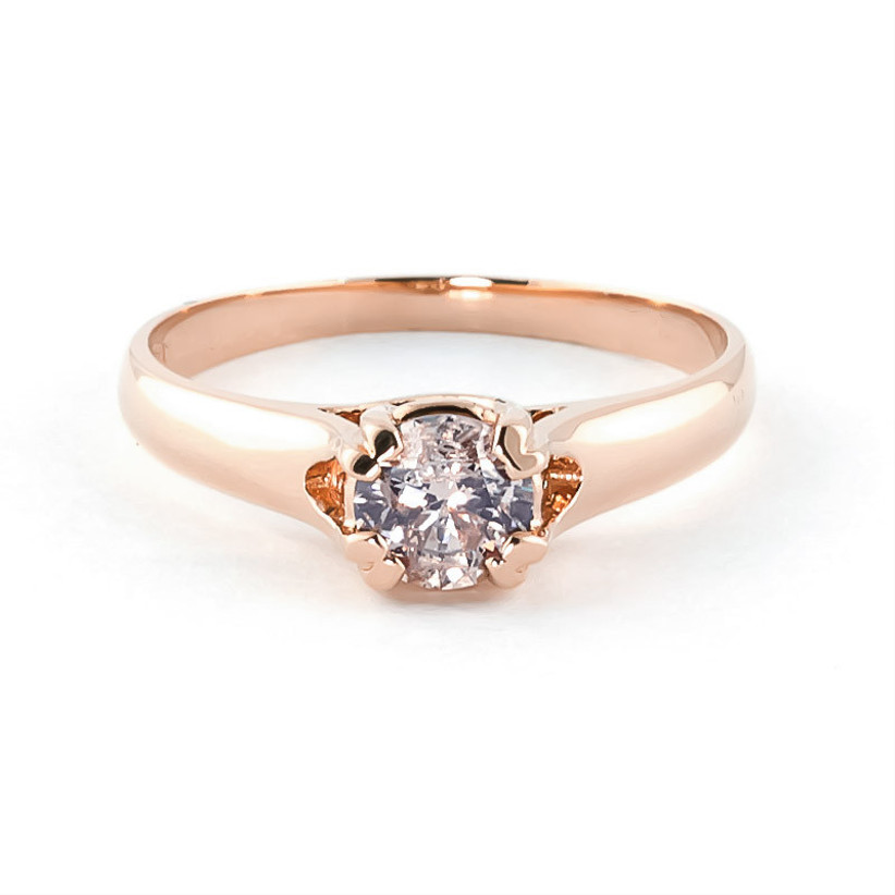 Diamond and rose gold engagement ring