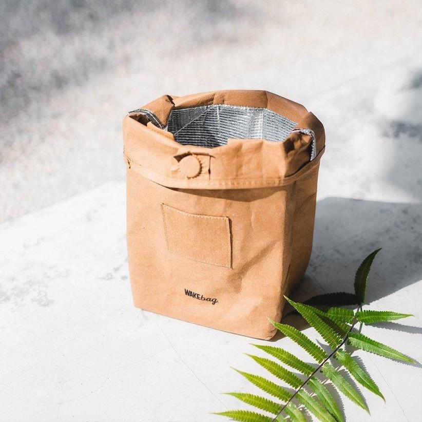 Reusable brown lunch bag