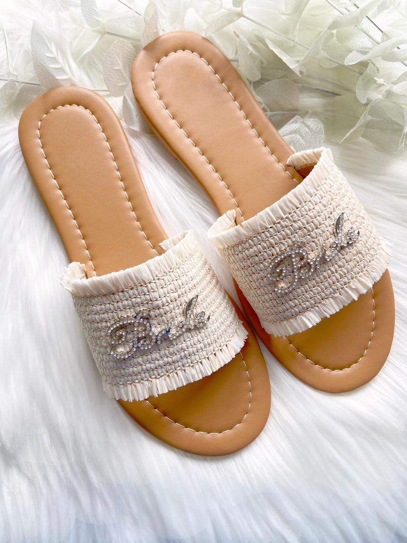 Bride embellished sandals
