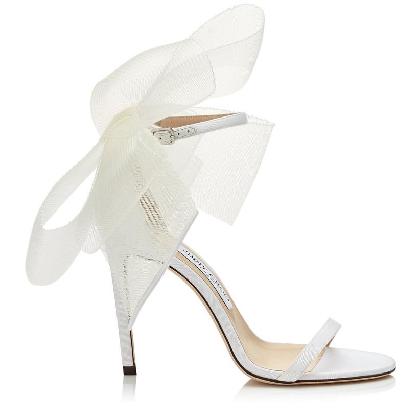 Jimmy Choo bow bridal heel