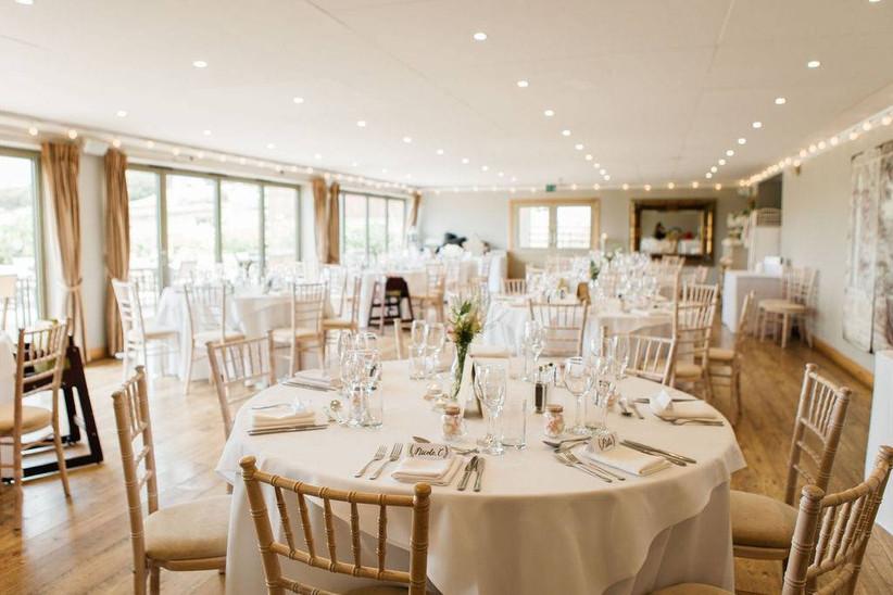 Stylish wedding dining room