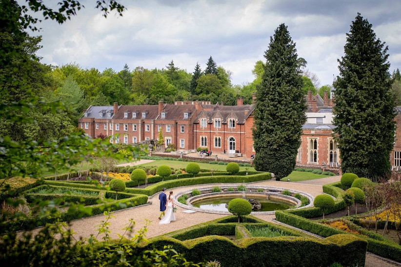 Outside view of a country house wedding venue