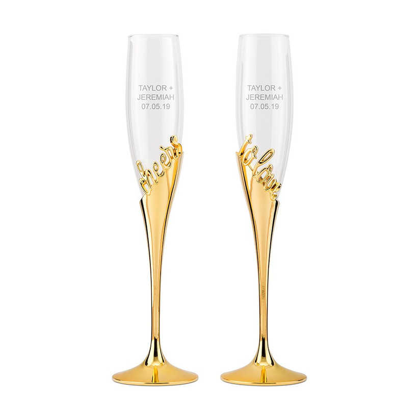 Cheers to love champagne flutes