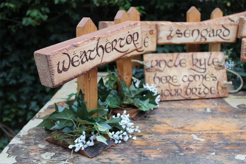 Lord of the rings table names