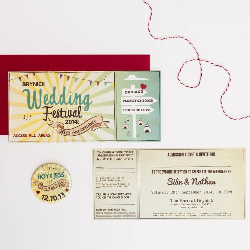 festival-ticket-style-wedding-invitation