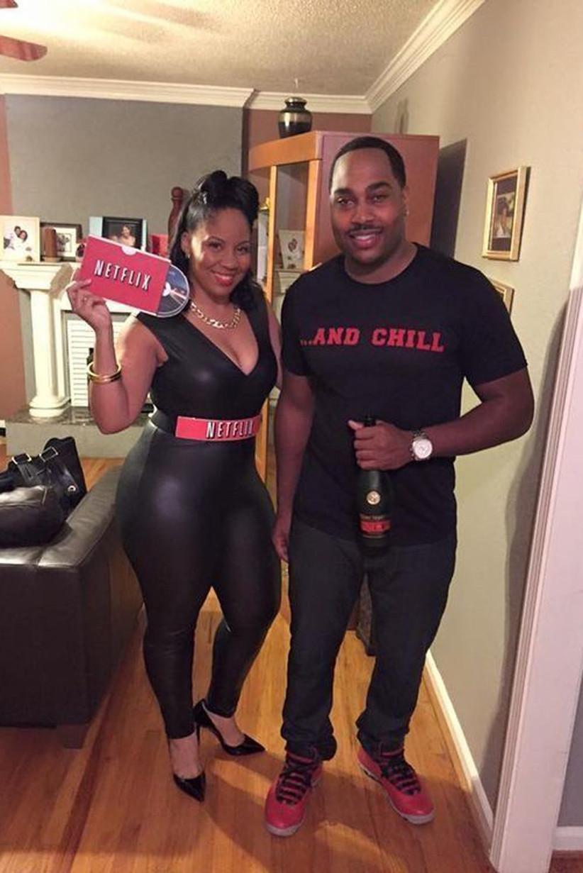 Couples-Halloween-Costumes-Netflix-&-Chill#