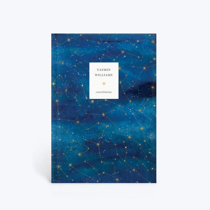 Personalised constellation notebook