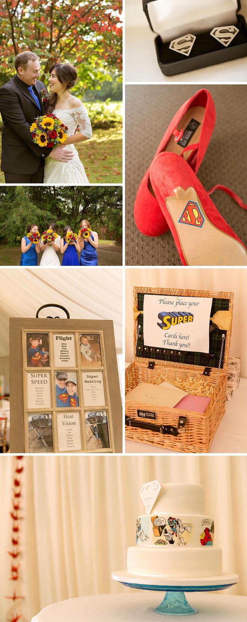 wedding-with-an-unusual-superman-wedding-theme