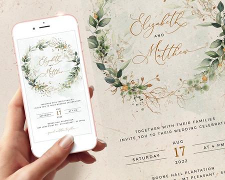 Wedding E-Vites: Digital Wedding Invite Wording & Ideas