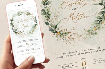 Wedding E-Vites: Digital Wedding Invite Wording & Ideas