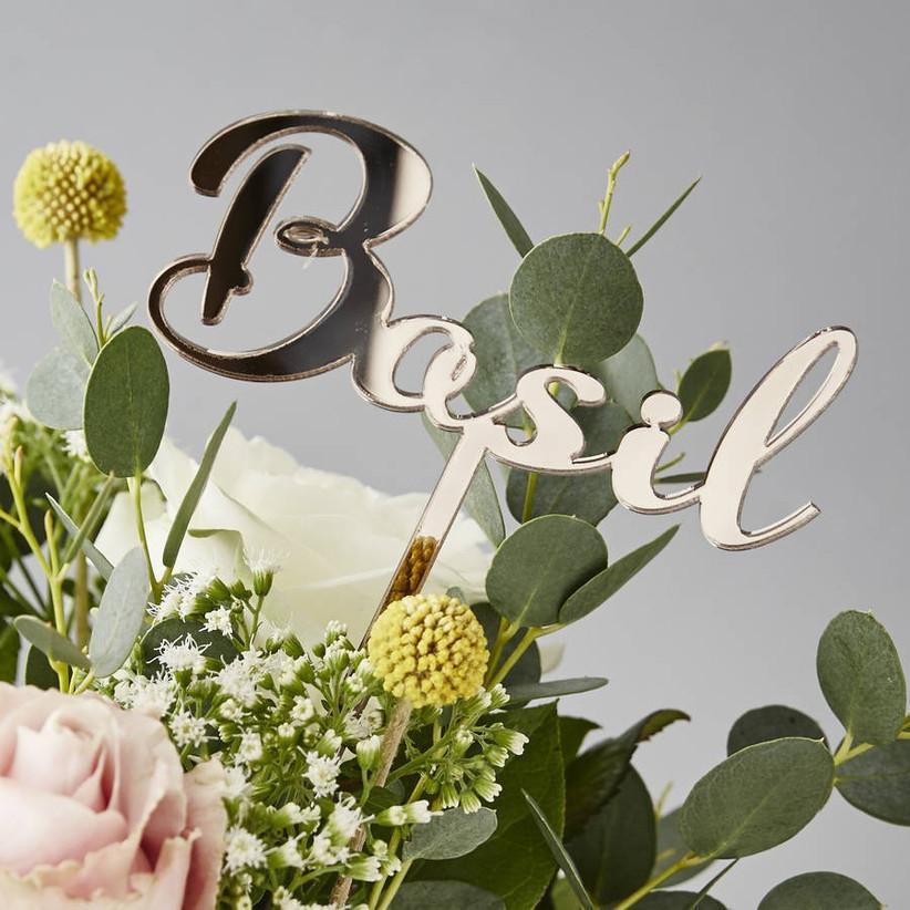 Herb wedding table name ideas