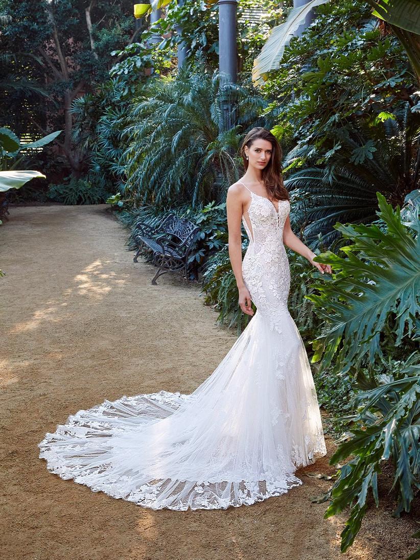 Enzoani Peach mermaid wedding dress