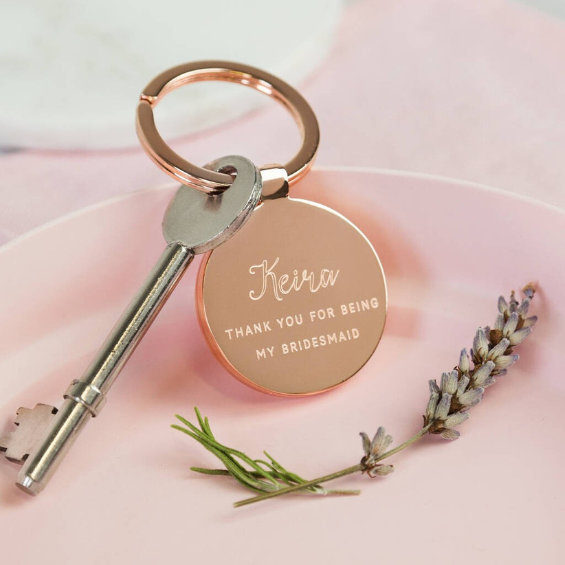 Will you be my bridesmaid keyring