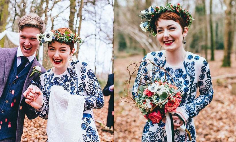 short-haired-bride-with-a-rustic-flower-crown-2