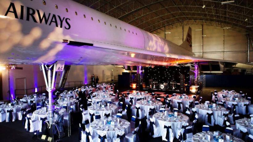Concorde in a hangar