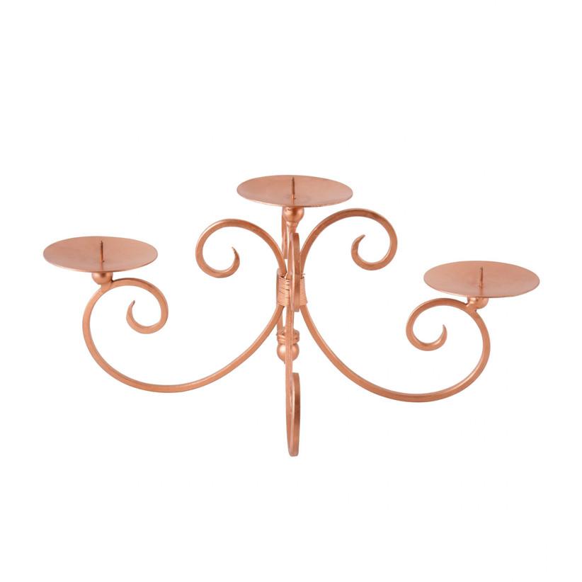 Rose Copper Pillar Candle Holder
