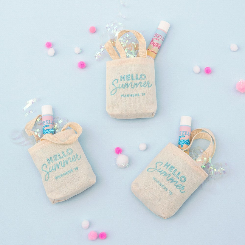 Tiny tote bags filled with treats