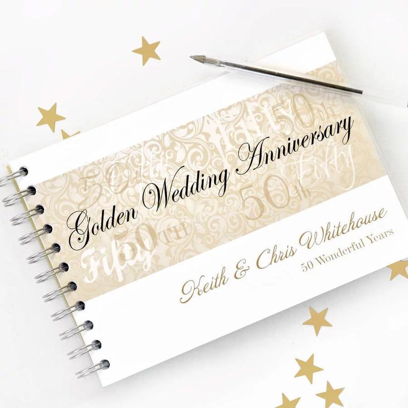 Golden wedding anniversary album