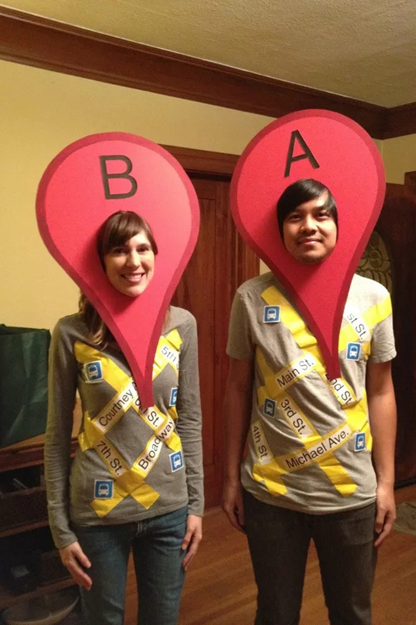 Couples-Halloween-Costume-Google-Maps