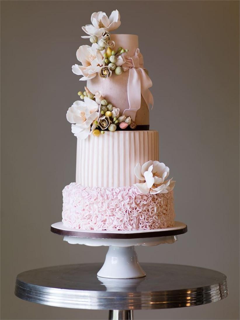 striped-and-ruffled-wedding-cake