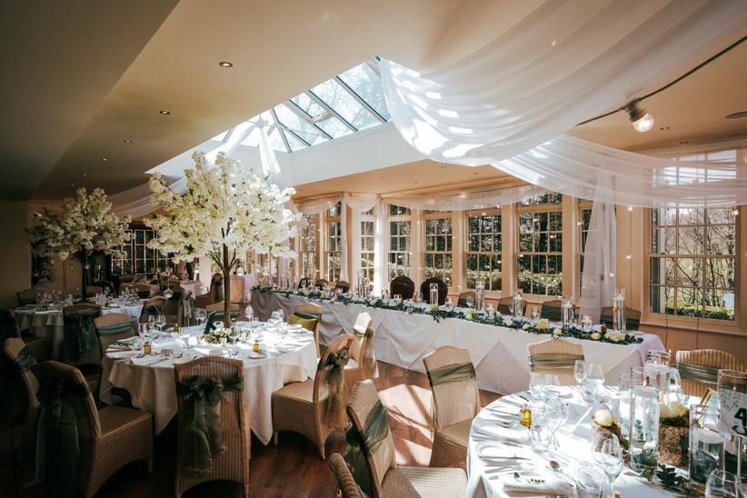 Wedding reception at Lancashire wedding venue Mitton Hall