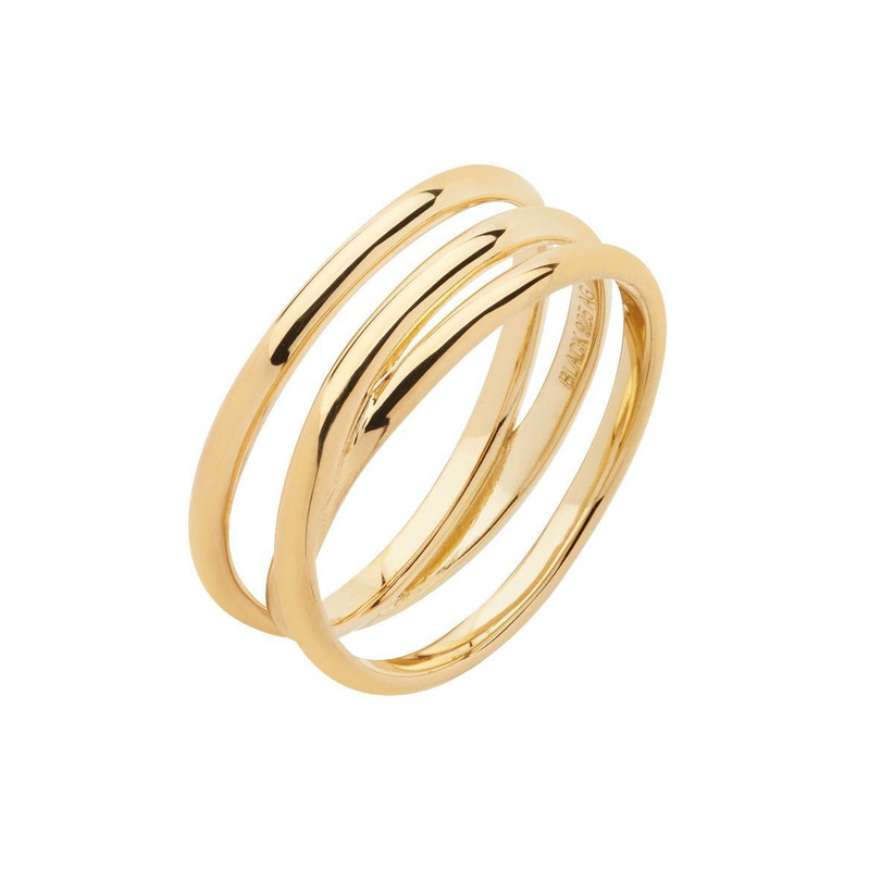 Multistrand gold ring with three layers