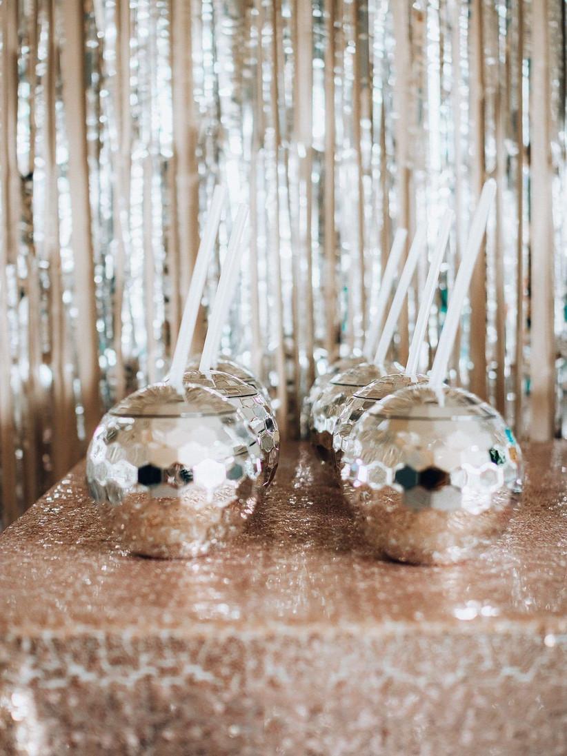 Disco Balls at Weddings