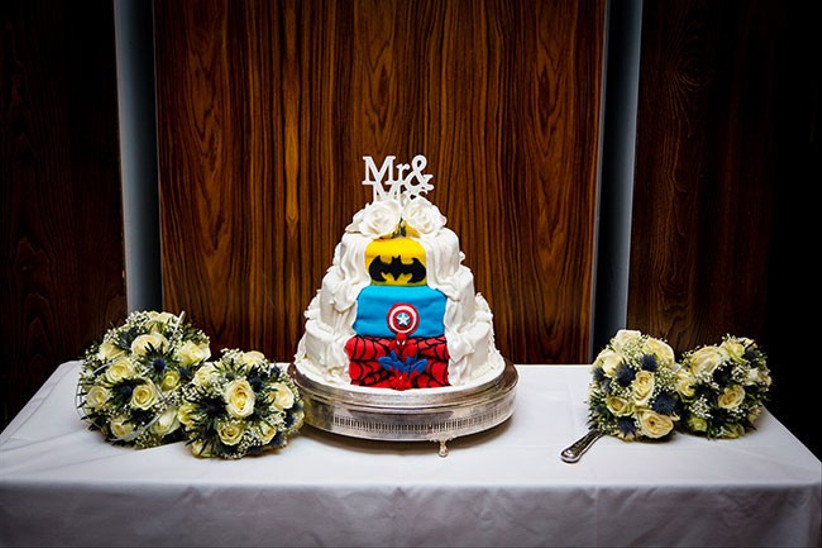 half-and-half-superhero-wedding-cake