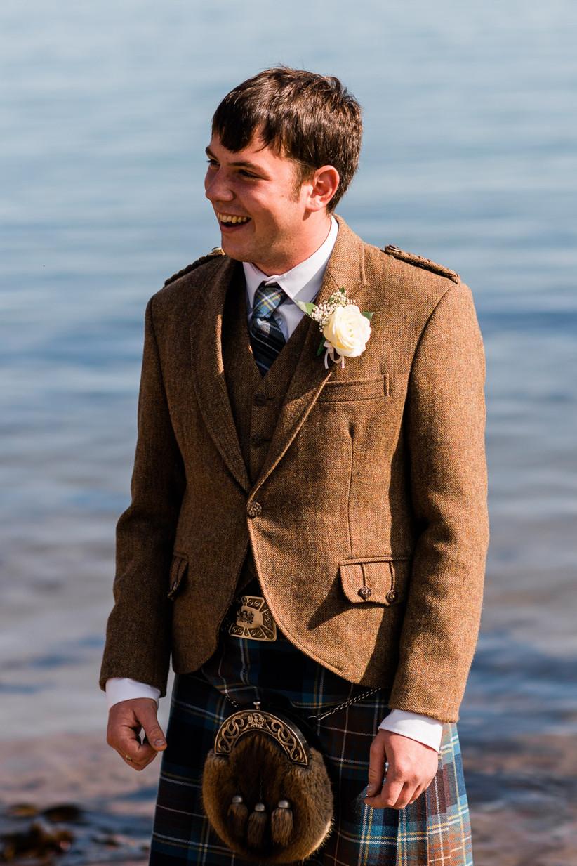 Stephen waiting on the beach for Caitlin