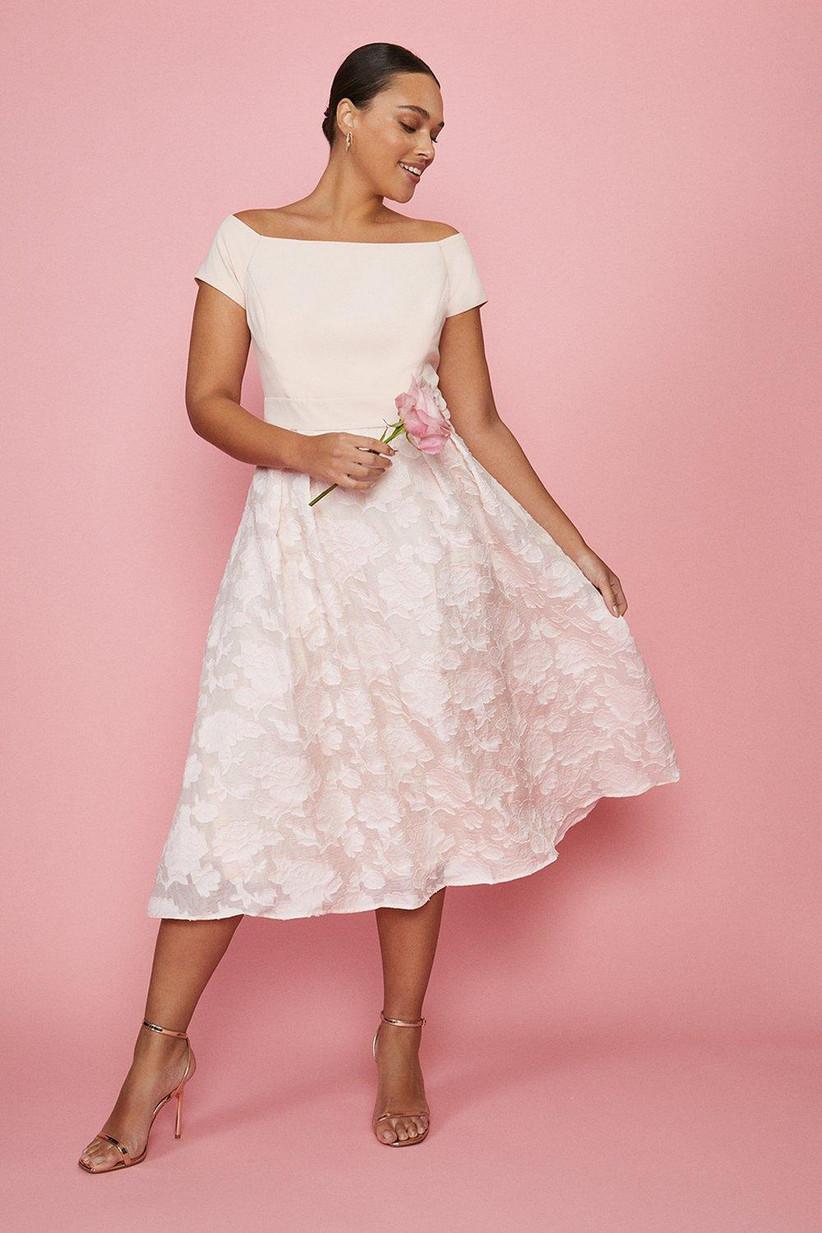Pale pink midi dress