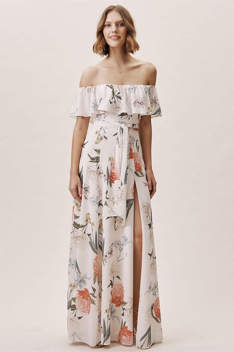Tropical wedding dress