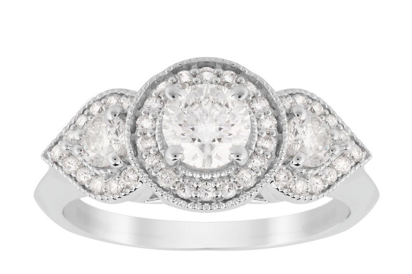 14. white-gold-engagement-rings-jenny-packham-three-stone-brilliant-cut-art-deco-ring