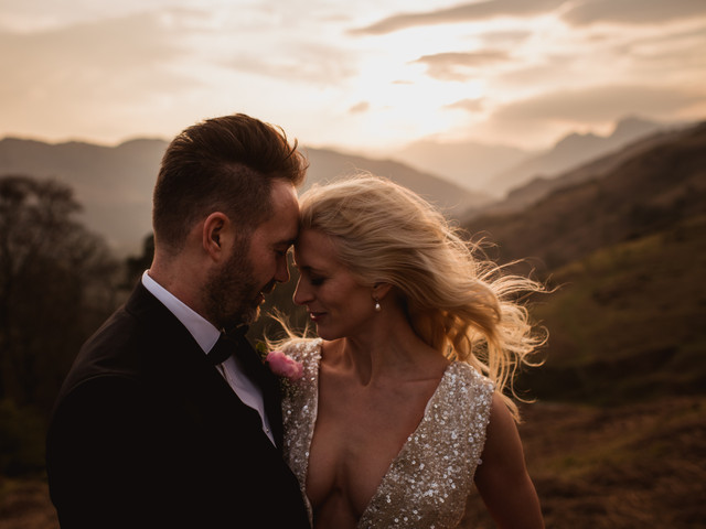 A Small Outdoor Lake District Elopement With Martina Liana and Inbal Dror Dresses
