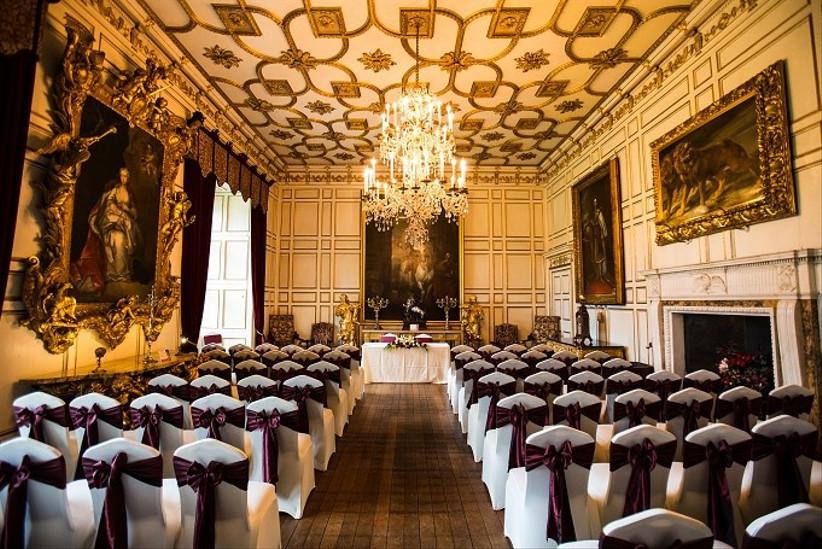 Warwick Castle ceremony room