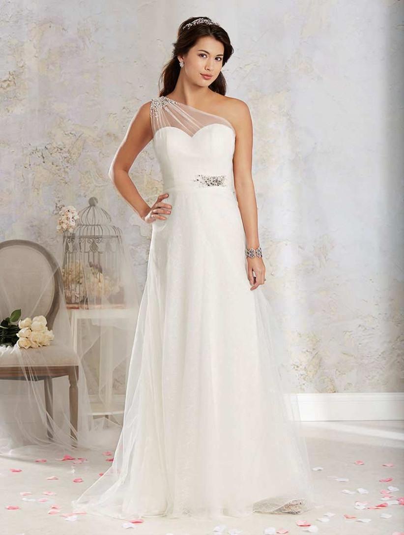 glamorous-one-shoulder-wedding-dress